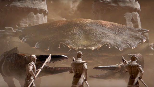 Lanimea-ANIMATEUR- D- D-crabe-vs-guerriers-soldats_animation- D_immense-chateau-de-sable_esma_le-blog-de-cheeky