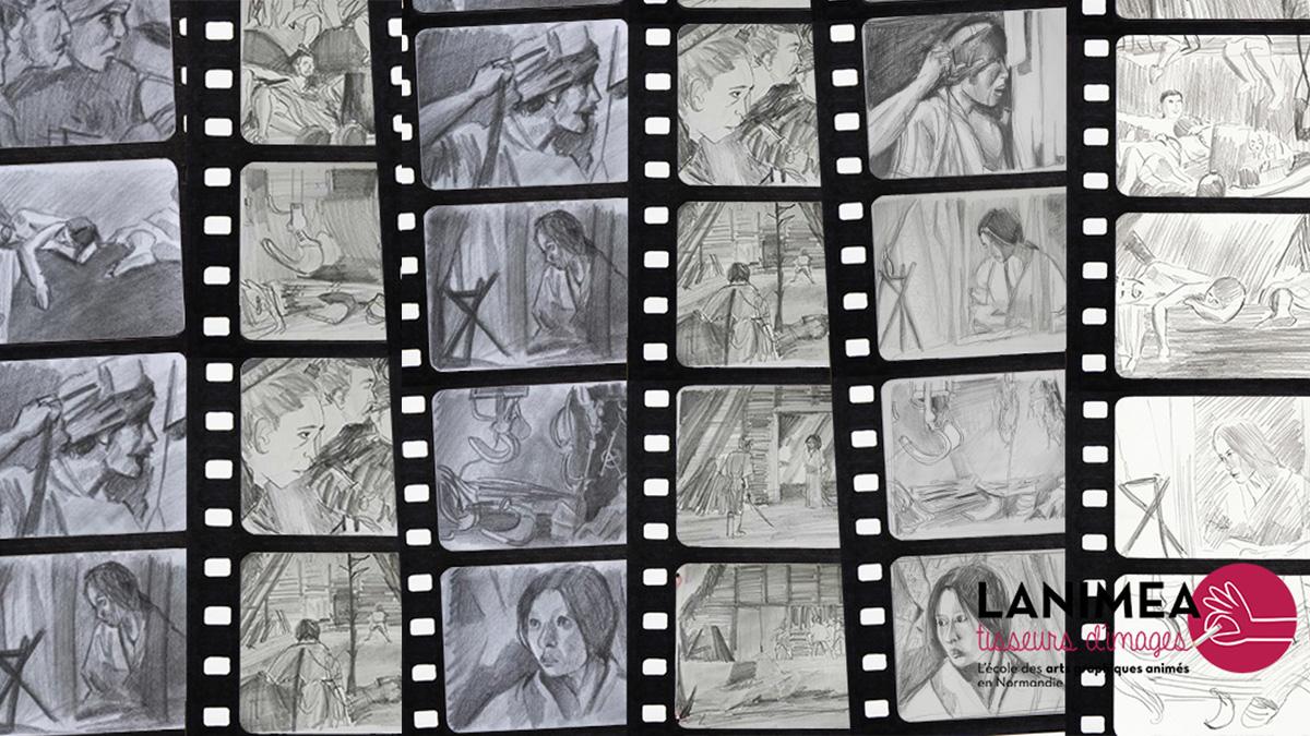 Lanimea-STORYBOARD-Pele-mele-croquis-ciné- -Samouraïs-site
